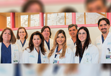Group of physicians smiling