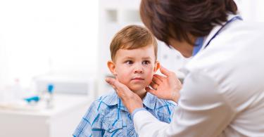 Little boy at doctors office